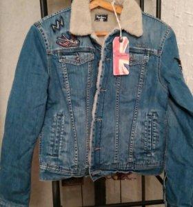 Джинсовая куртка (теплая)