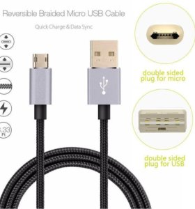 Micro USB кабель зарядка 2-х сторонний