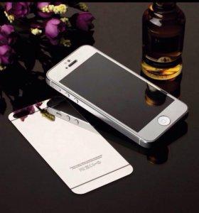 Защитные стекла на iPhone 5