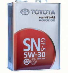 Моторные масла Тойота 5w30