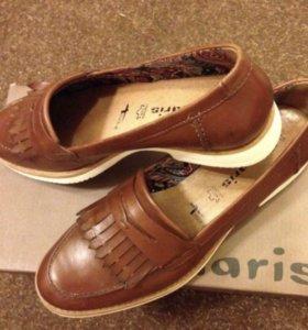 Туфли лоферы Tamaris новые кожа
