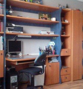 Мебель стеллаж, шкаф+кровать