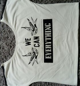 Укороченная футболка bershka