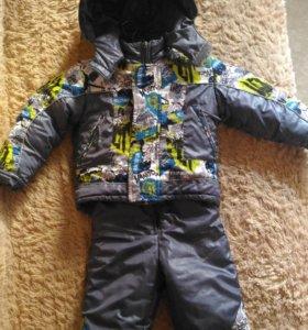 Зимняя куртка и полукомбез на мальчика 2-3 года