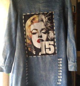 Платье джинс 44-46 р-р