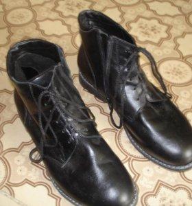 Мужские ортопедические кожаные ботинки