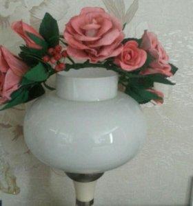 Ободок из роз и брошь из мака