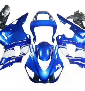 Комплект пластика Yamaha YZF-R1 00-01 сине-белый