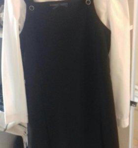 Школьный сарафан с блузкой