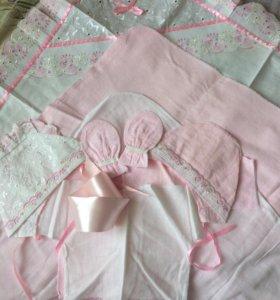 Комплект на выписку (розовый)