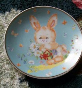 Тарелка декоративная фарфоровая
