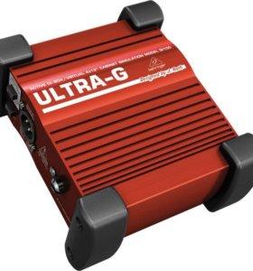 Активный DI-box behringer GI100 ultra-G