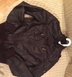 Куртка из натуральной кожи, шоколадного цвета !
