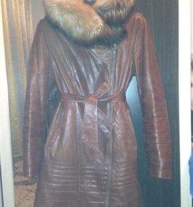 Зимние натуральное пальто