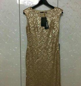 Нарядное новое платье в пайетках