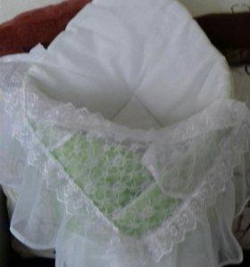 Одеяло, уголок, бант на выписку