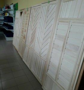 Дверь деревянная банная