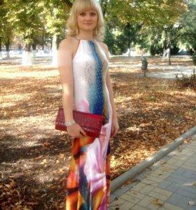 Платье на стройную высокую девушку + клатч