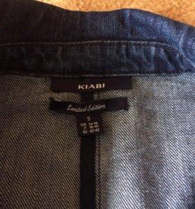 Джинсовое плотное пальто - пиджак