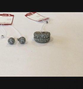 Серебро 925 проба с кристаллами Сваровски
