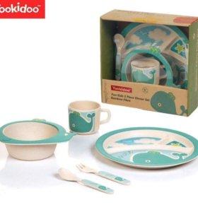 Посуда для детей из бамбукового волокна