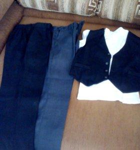 Школьные брюки и жилет.