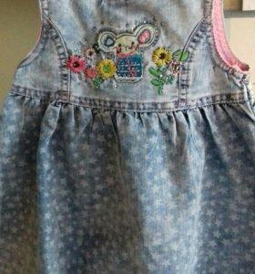 Платье на1-2года