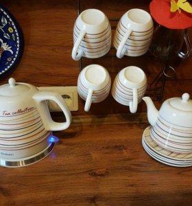 Керамический чайный набор новый
