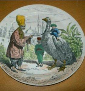 Антикварная декоративная тарелка creil ET monterea