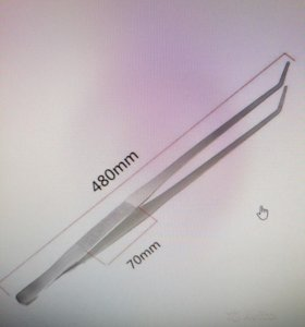 Пинцет для аквадизайна (нерж.) 48см
