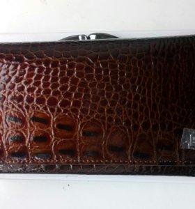 Новый кошелёк кожа в упаковке