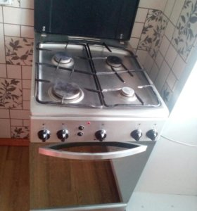 Плита Hansa газ.нерж.