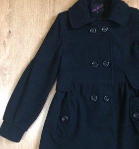 Пальто кашемир черное