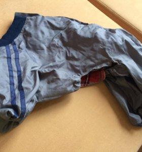 Одежда для собачки куртка дождевик. Кобель