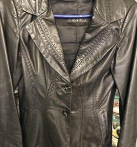 Кожаный пиджак 42 размер