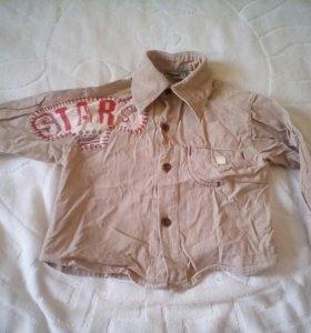 Рубашка микровельвет