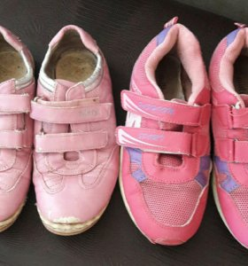 Обувь для девочки р.33 розовые 100р малиновые 150