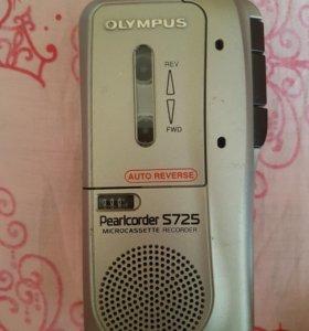 Диктофон кассетный olympus pearlcorder s725 с касс