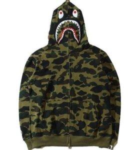 hoodie full zip Bape shark