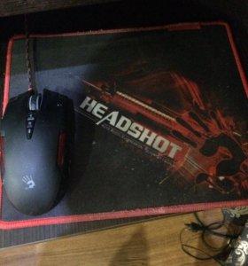 Мышь, коврик, клавиатура