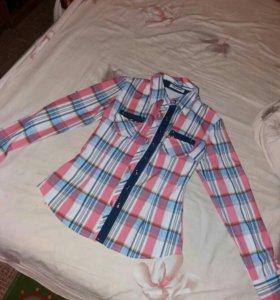 Рубашка джинсы 2 шт