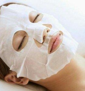 Прессованная тканевая маска для лица, 8 штук.