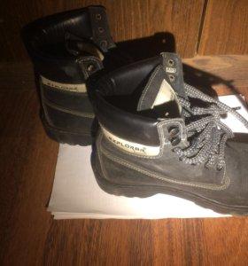 Ботинки демисезонные чёрные унисекс 38 р