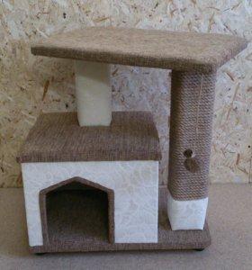 Домик для кота, с когтеточкой
