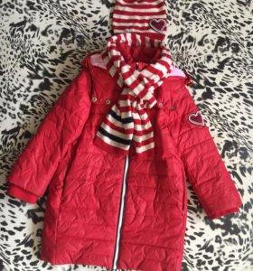 Пальто+шапка и шарф Гулливер