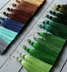 Серьги-кисточки и браслеты на заказ