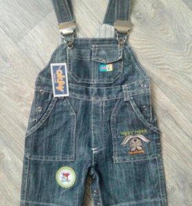 Новый полукомбинезон джинсовый