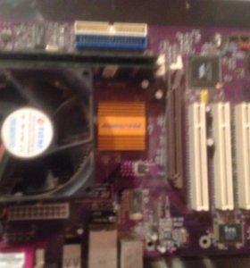 Материнская плата с процессором и оперативками