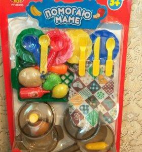Набор посуды, пластмассовая