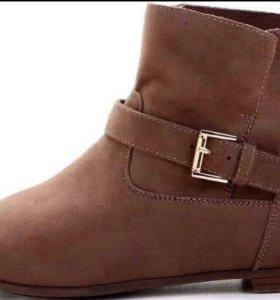 Замшевые ботинки(очень,весна)